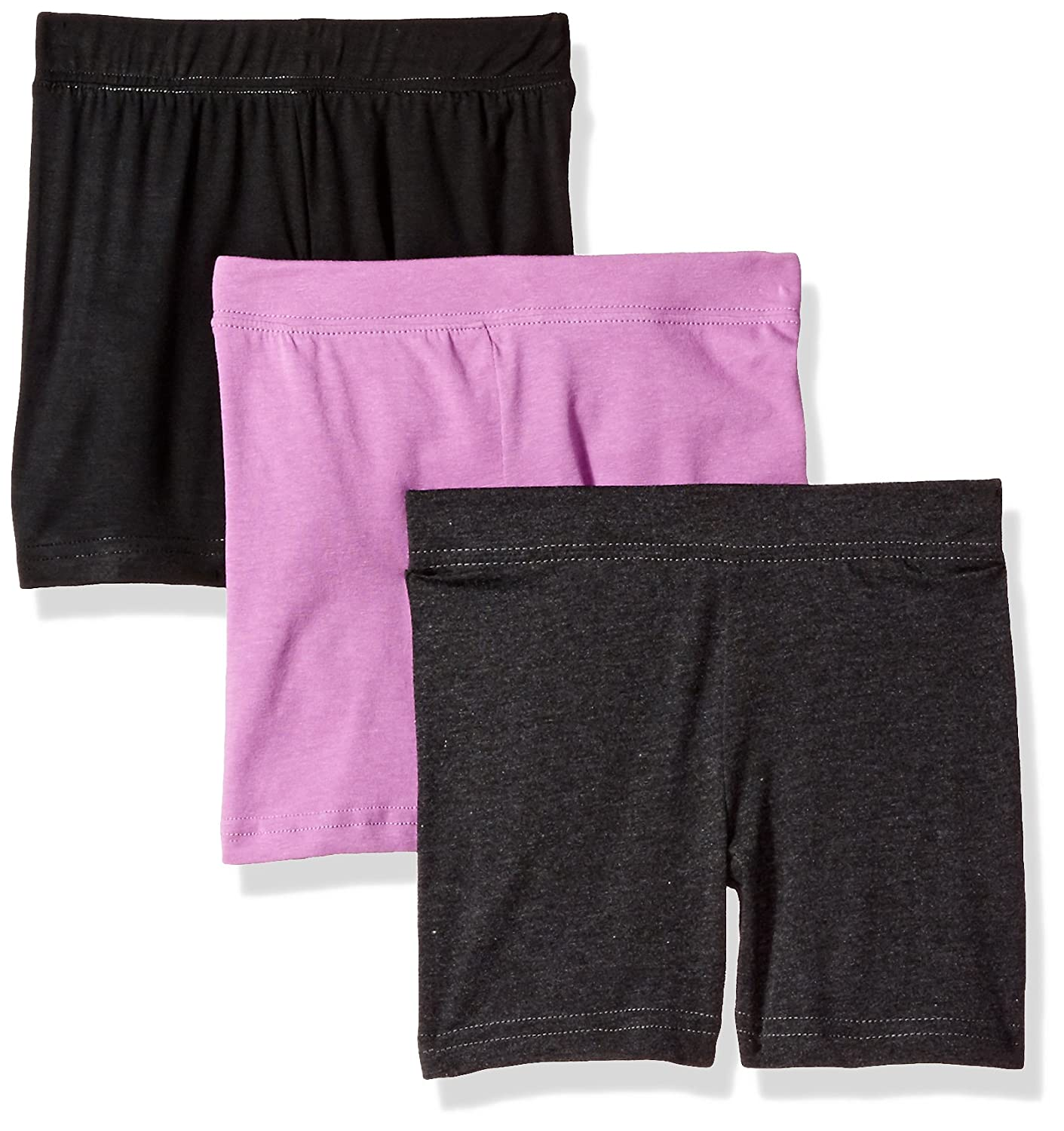 Clementine Apparel Girls Bike Shorts for Girls 3 Pack MG-3763-3PK