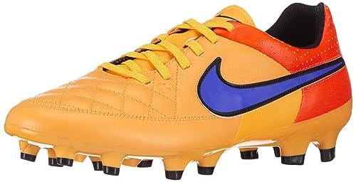 f1e76a8fa7b Nike New Men s Tiempo Genio Leather FG Soccer Cleat Orange Persian Violet 11
