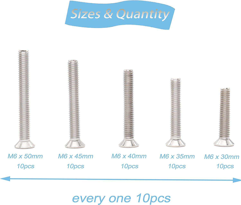 binifiMux 100pcs Pan Phillips Head M4 Machine Screws 304 Stainless Steel Assortment Kit M4x60mm// 65mm// 70mm// 75mm// 80mm