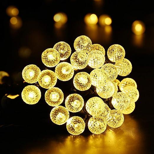 Qedertek Guirnalda luces exterior, Luces Solares para Exterior ...