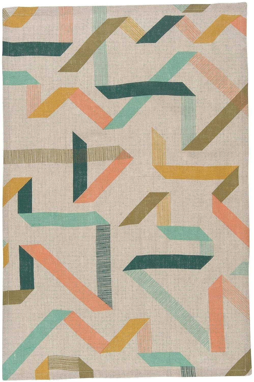 Multicolor 7001349 Danica Studio Calliope Linen Dish Towel