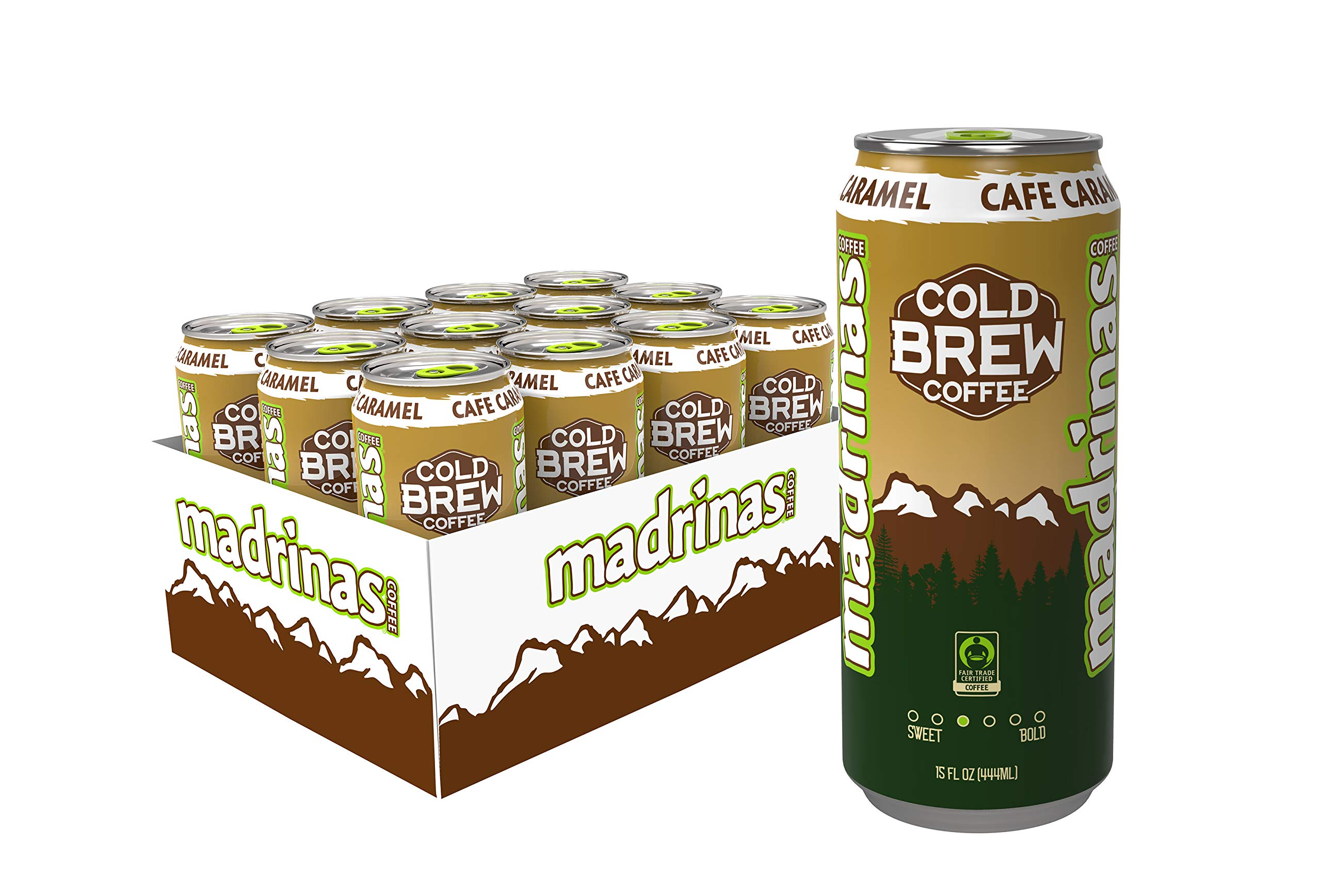 Madrinas Cafe Caramel Fair Trade Cold Brew Coffee, 15 Fl Oz (Pack Of 12) by Madrinas Coffee
