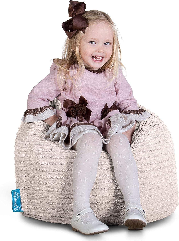 Cord Lounge Pug/® Beanbag for Kids Ivory CHILDRENS Beanbag Chair