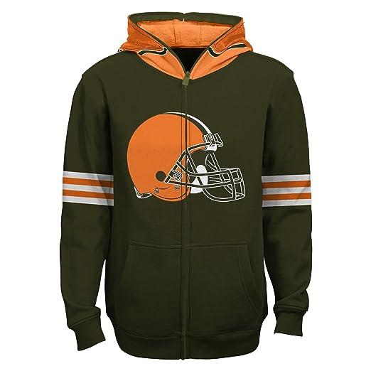 brand new 0081a e1cc5 Amazon.com : Outerstuff NFL Cleveland Browns Full Zip Helmet ...
