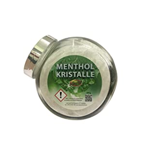 800 g menthol crystals in decorative jar, 100% natural, made from pure mint oil