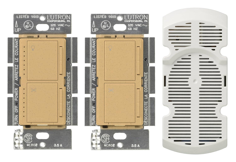 Lutron MA-LFQ3-AL Maestro 3-Way Dimmer and Fan Control Almond
