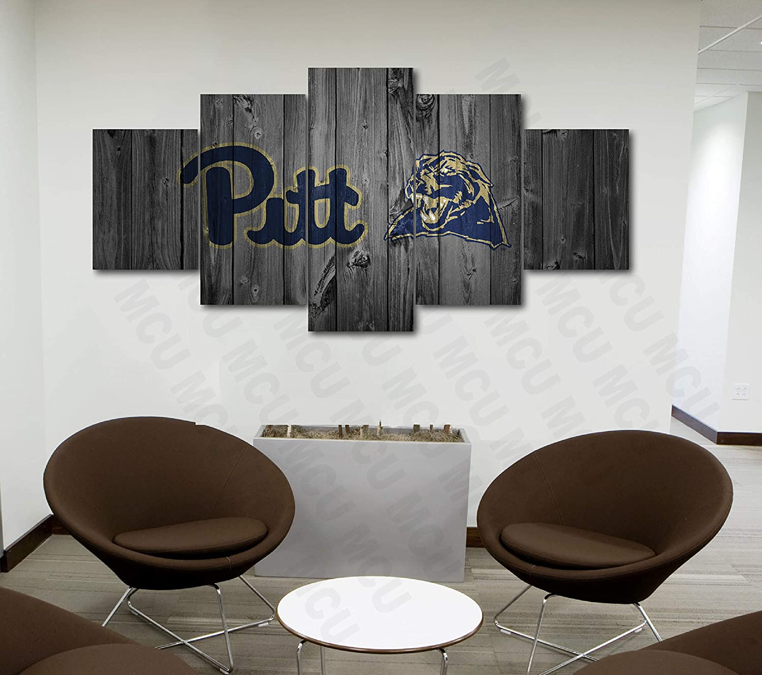 5 Piece American Football College University Teams Art Decor Wall Poster (5 Piece Medium, Pittsburgh Panthers)