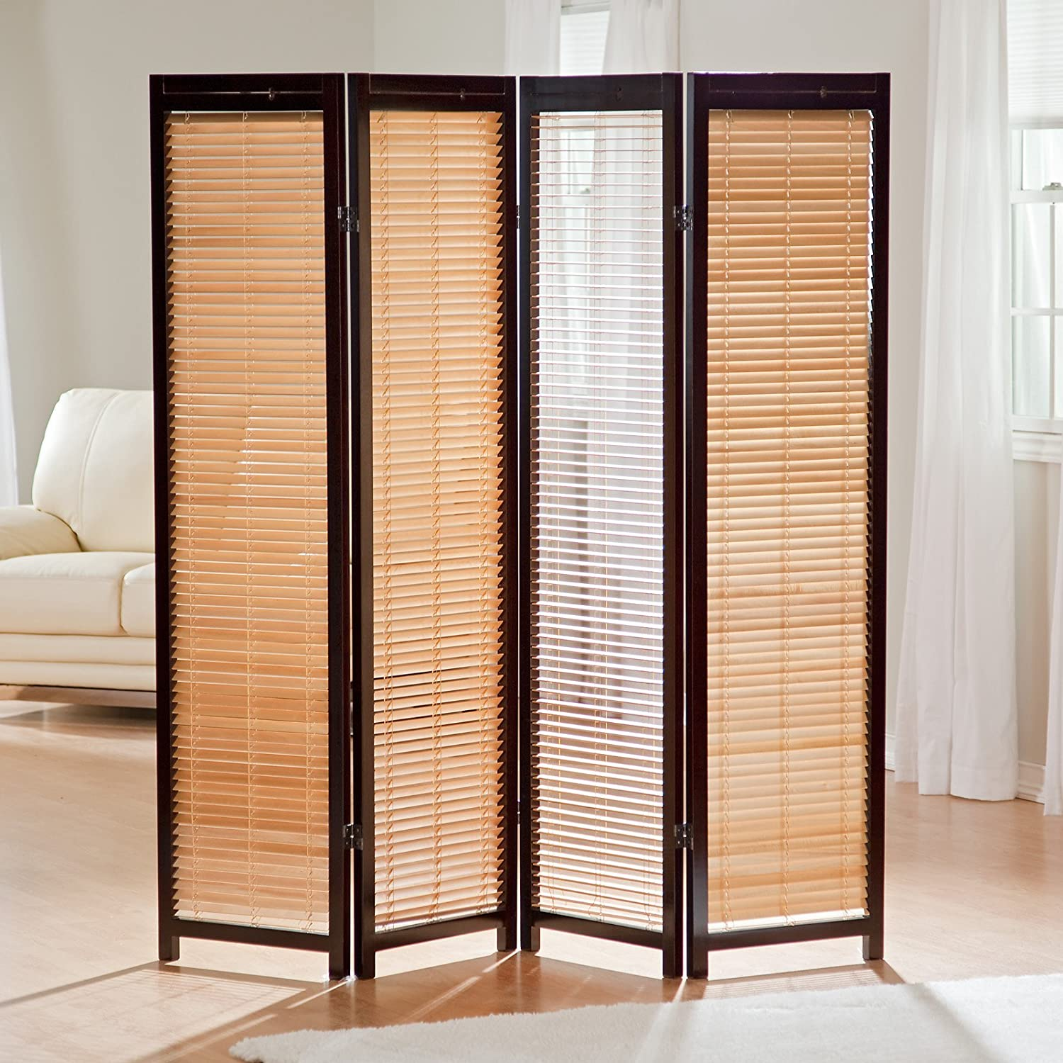 Amazon.com: Tranquility Wooden Shutter Room Divider: Industrial ...