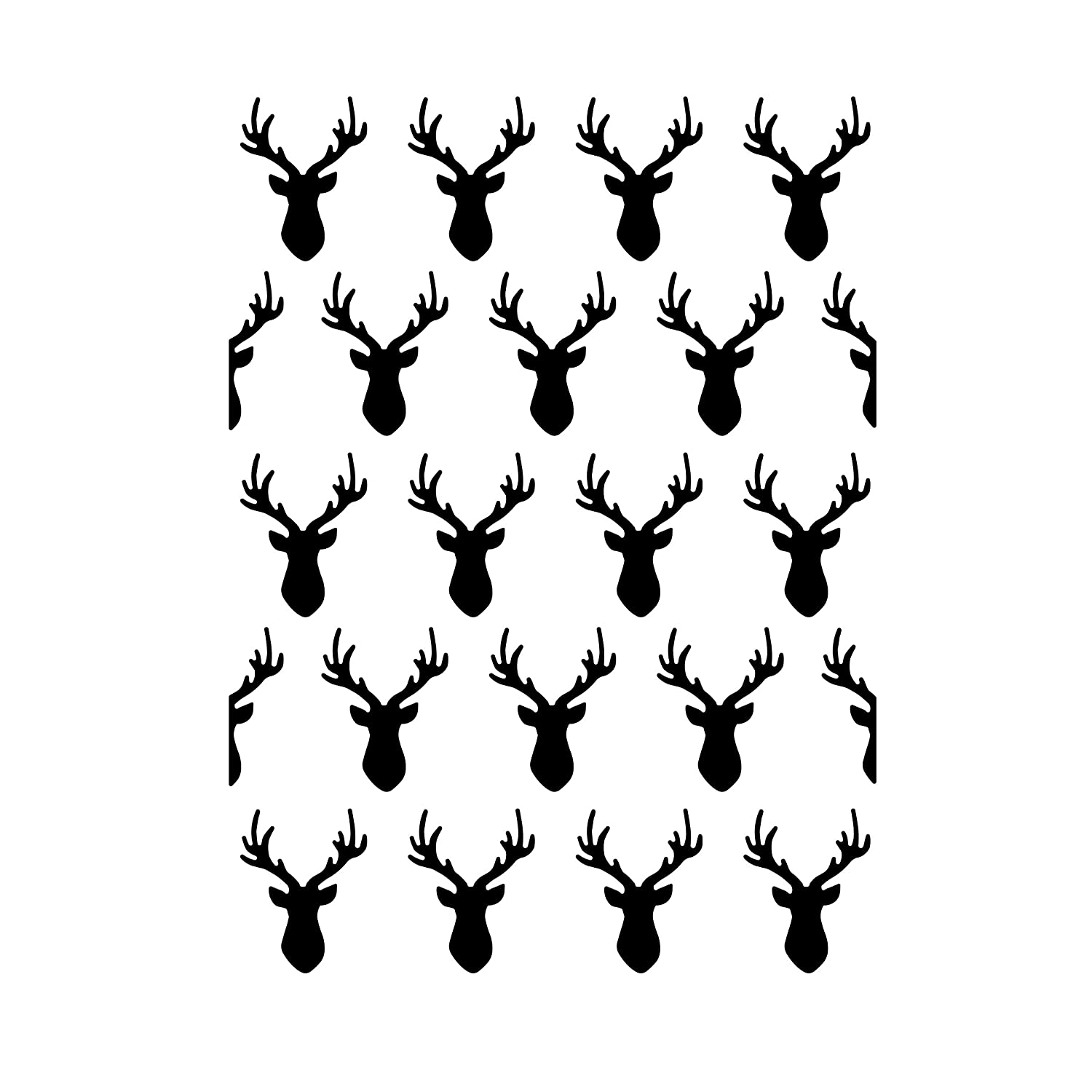 Darice Embossing Folder - Template Deer Heads - 4.25 x 5.75 Inches, 10.8 x 14.6 x 0.11 cm 30032535