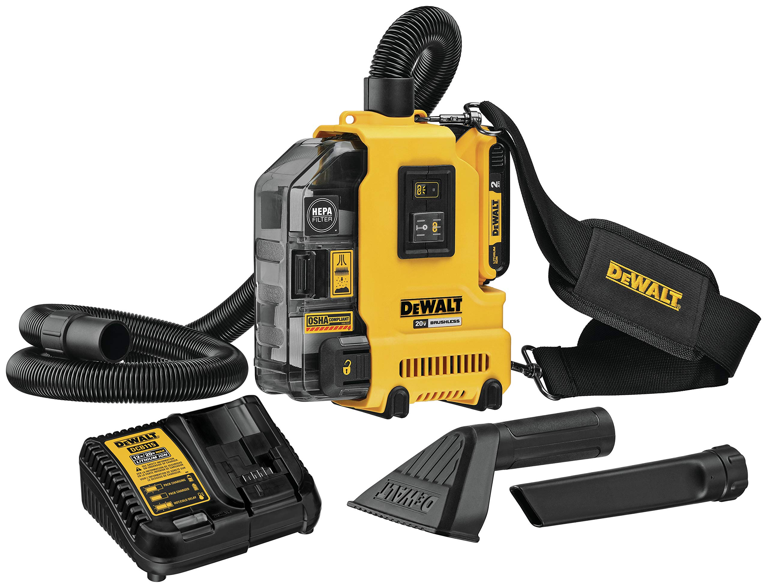DEWALT DWH161D1 20V MAX Brushless Universal Dust Extractor Kit by DEWALT