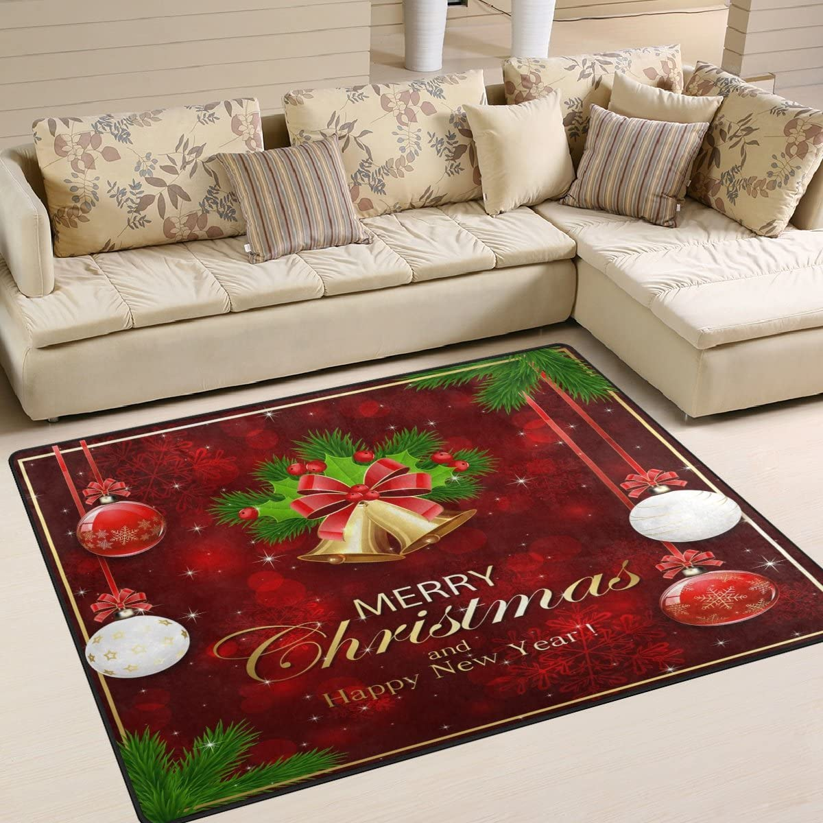 ALAZA Romantic Girl on Bicycle Butterfly Flower Area Rug Rugs Mat for Living Room Bedroom Multi 9, 7 x5
