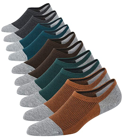 Amazon.com: Calcetines de algodón para hombre de corte bajo ...