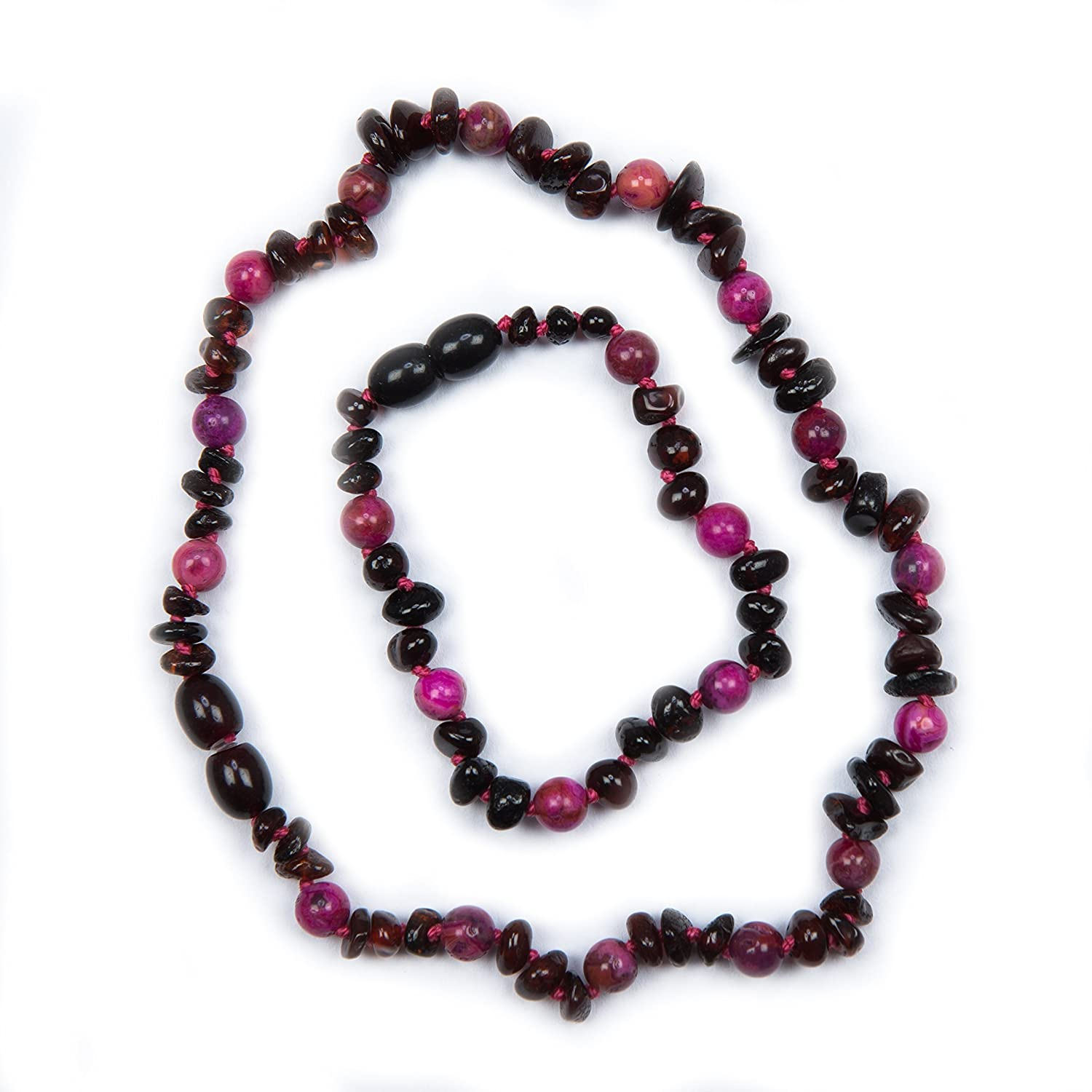 100% Genuine Cherry and Rose Agate Necklace and Anklet Set. Variety Of Anklet Sizes. Free Delivery. Money Back Guarantee Baby J' s cherry rose set
