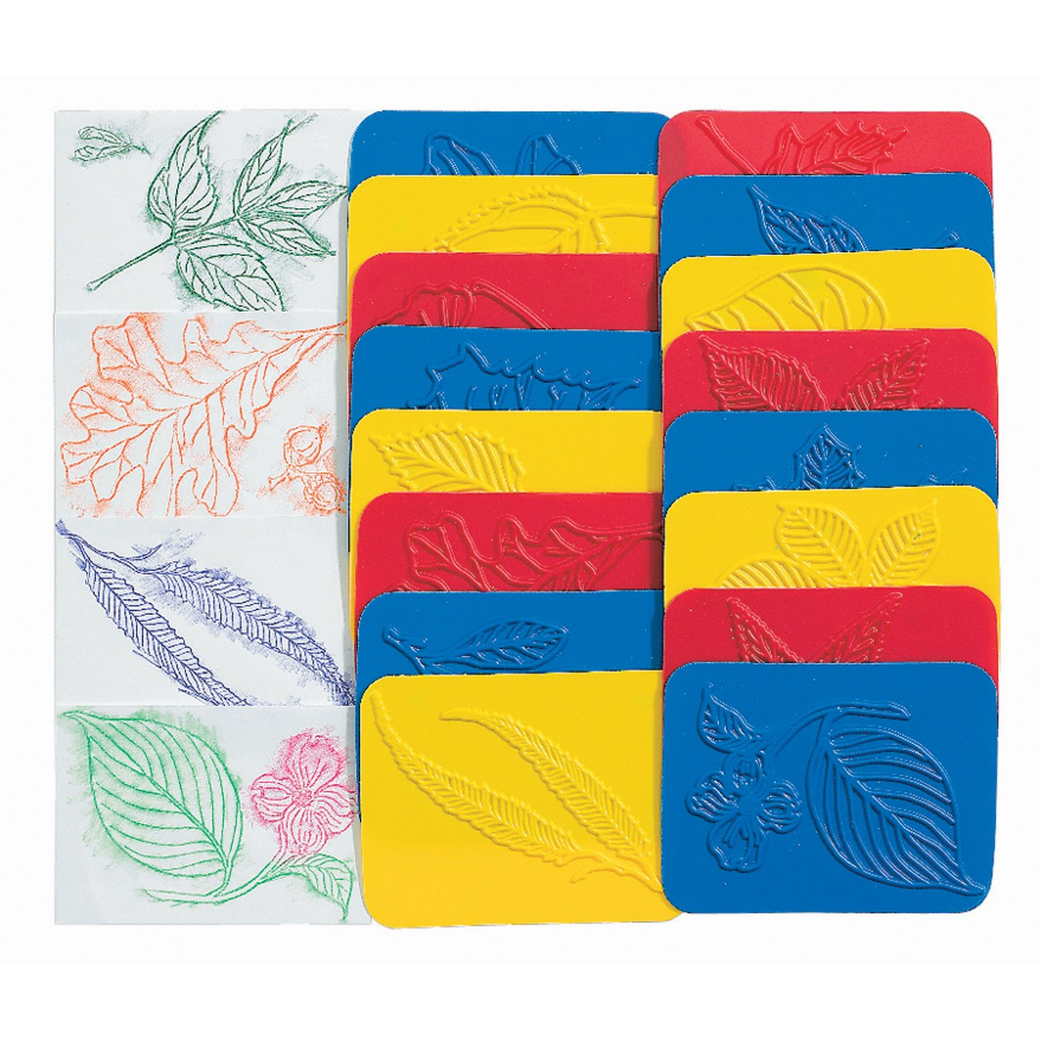 8.5 Wide Pack of 32 Roylco R-5815BN Rubbing Plates Leaf Grade Kindergarten to 1 5 Length 2 Height