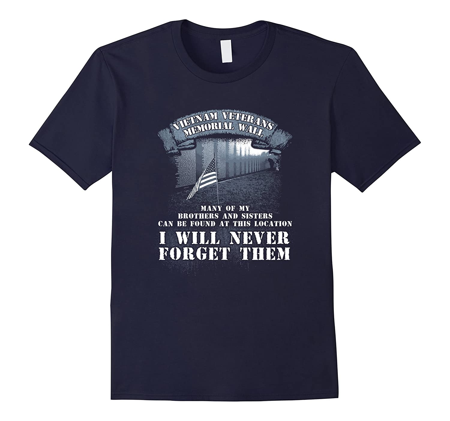 Tee Shirt Vietnam Veterans Memorial Wall T-Shirt Gift