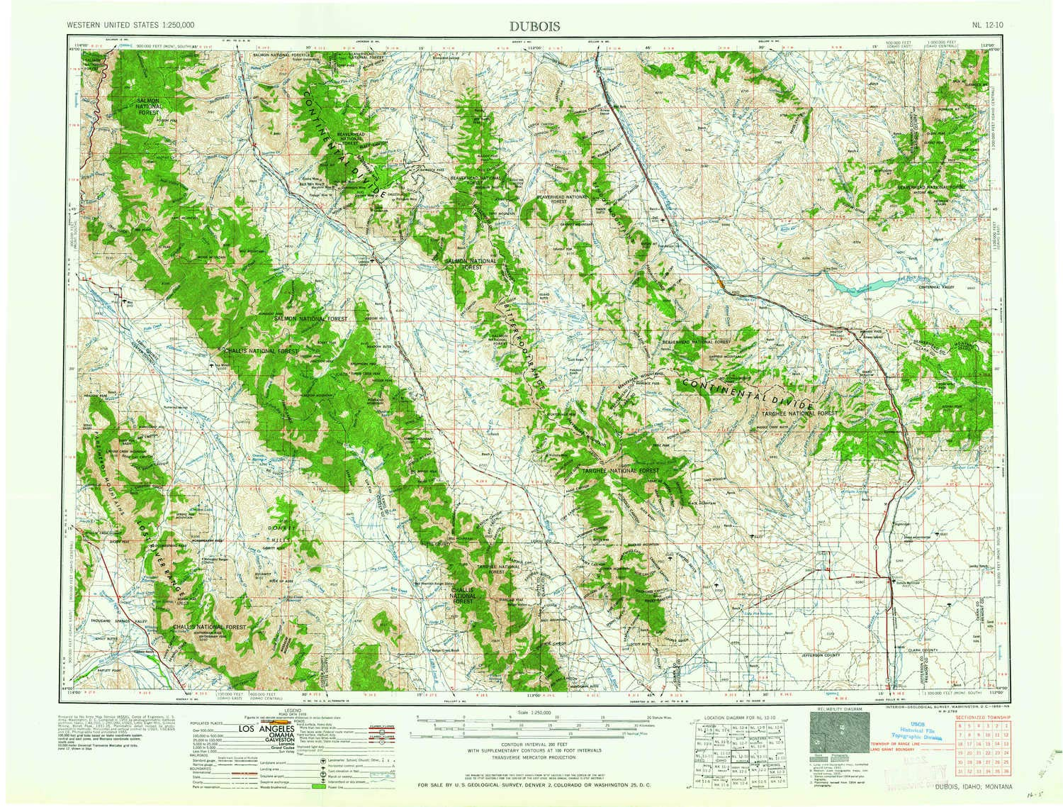 Amazon.com: YellowMaps Dubois ID topo map, 1:250000 Scale, 1 ...