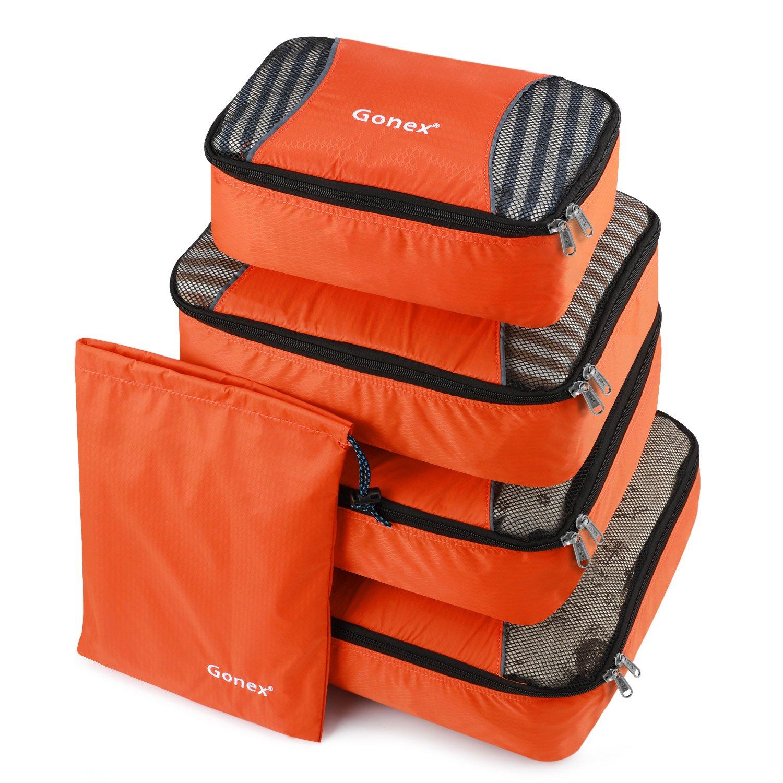 Gonex Packing Cubes Travel Luggage Packing Organizer,Laundry Bag Included (Orange) product image