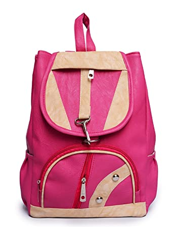 Bv Fashion Vogue Stylish Canvas College Bags Backpacks For Women   Girls  (Pink, Bv1003 101bb1cd6e