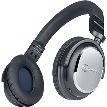 Naztech i9 Wireless Active Noise Cancelling Headphones with In-line Mic, Bluetooth 4.1