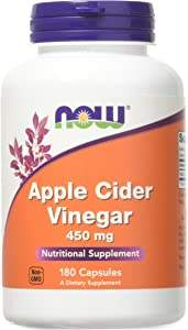 Now Foods - Apple Cider Vinegar 450 mg 180 caps