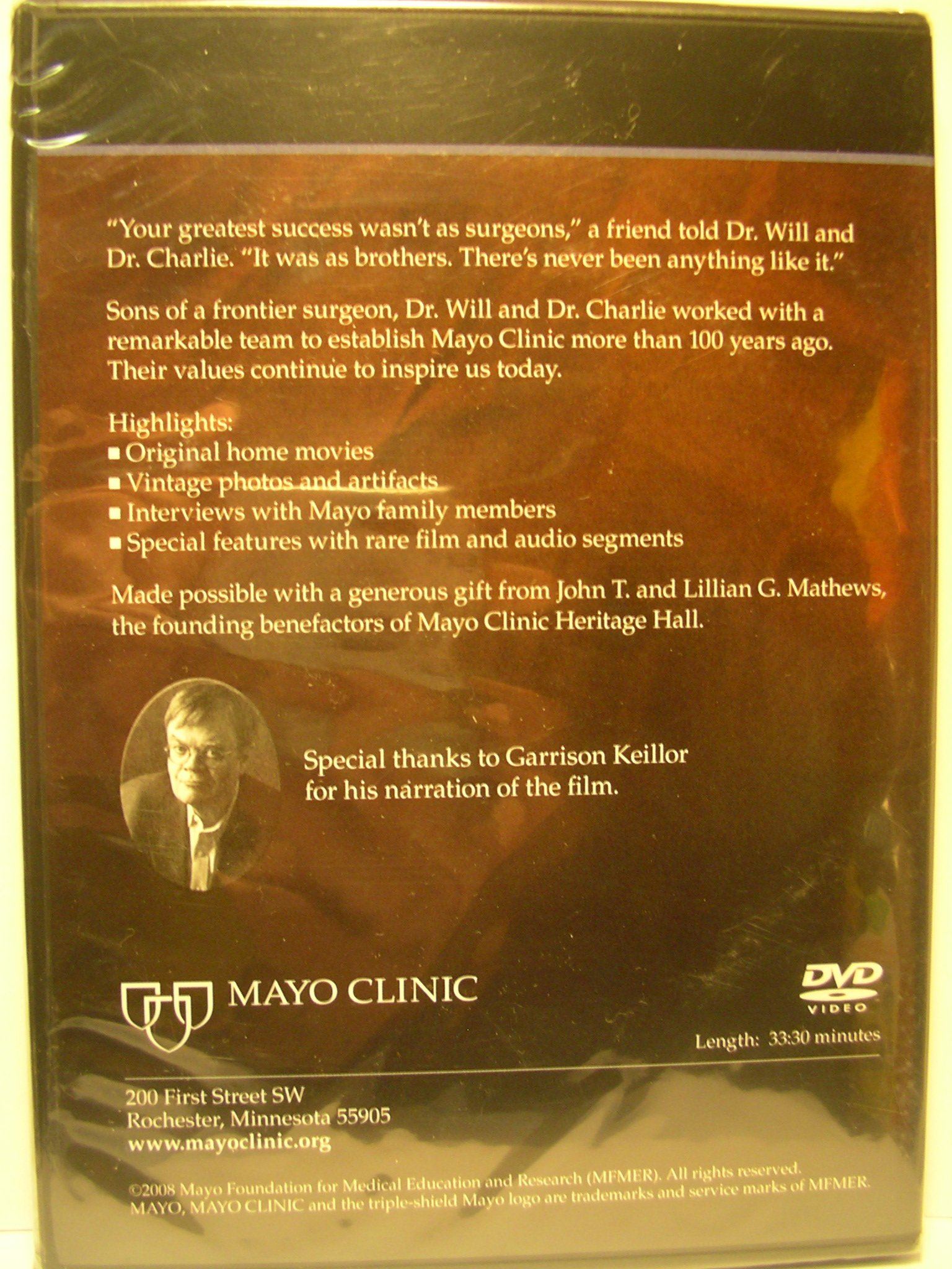 My Brother and I (DVD) (Mayo Clinic Heritage Films): Amazon com: Books