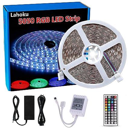 3M Tira de Luces LED SMD RGB Tiras LED Interior con Control Remoto Decoracion para Hogar Bar Cocina Habitaci/ón Boda Fiesta