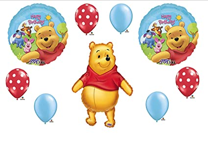 Image Unavailable Not Available For Color Winnie The Pooh Birthday Party Balloons Decorations