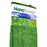 Nano Towels SUPERSIZED Version. The Breakthrough Fabric That Replaces Paper Towels and Toxic Chemical Cleaners. Use As Bath Towels, Kitchen Towels, etc. All Purpose Cleaning Wipes. 26 x 18 in