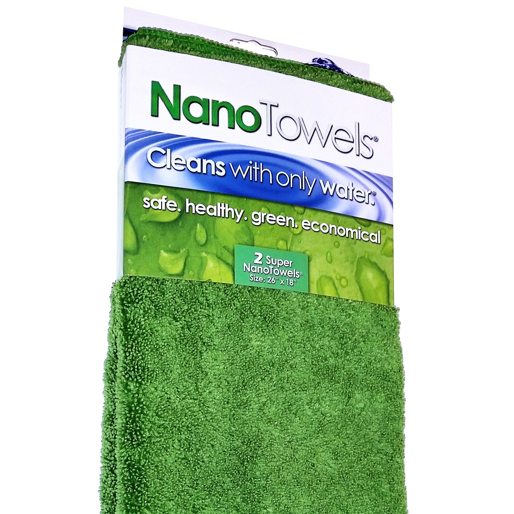 Life Miracle Nano Towels SUPERSIZED The Breakthrough Fabric That Replaces Paper Towels and Toxic Chemical Cleaners. Use As Bath Towels, Kitchen Towels, etc. All Purpose Cleaning Wipes 26x18 by Life Miracle (Image #1)