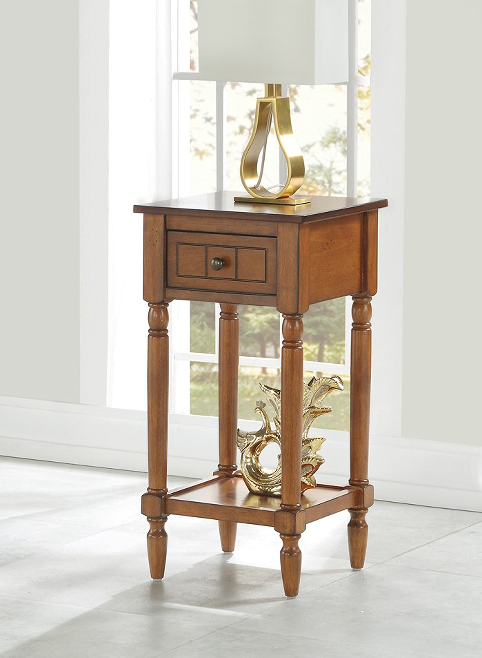 Convenience Concepts 6052201WN Accent Table, Walnut