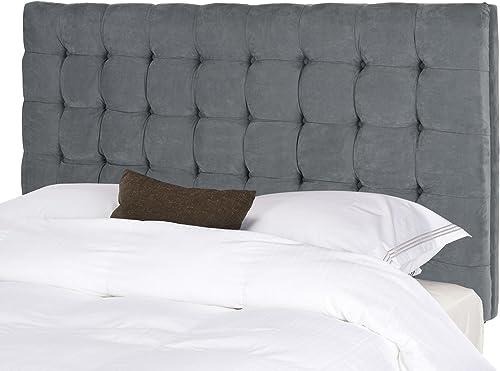 ModHaus Modern Button Tufted Luxe Gray Velvet Upholstered Padded Queen Headboard Includes ModHaus Living TM Pen