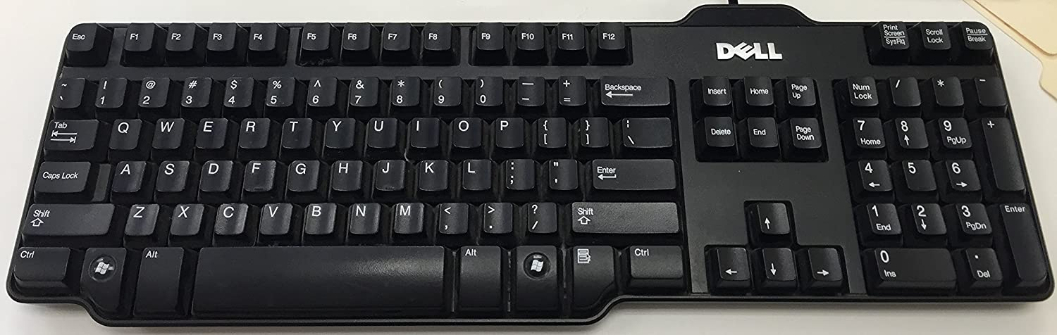 Dell OEM Genuine USB 104-key Black Wired Keyboard (RH659 L100 SK-8115)