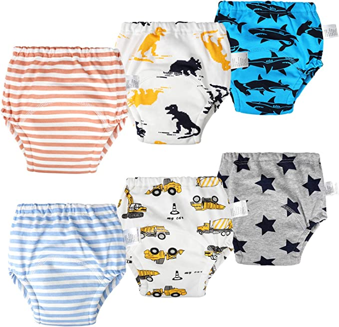 Baby Girls Potty Training Underwear Toddler Cartoon Cotton Washable Trainers Underpants Pack of 6 Size S