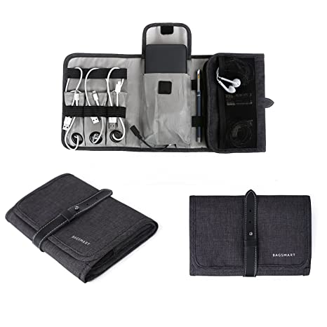 Awesome BAGSMART Compact Travel Cable Organizer Portable Electronics Accessories  Bag Hard Drive Case For Various USB,