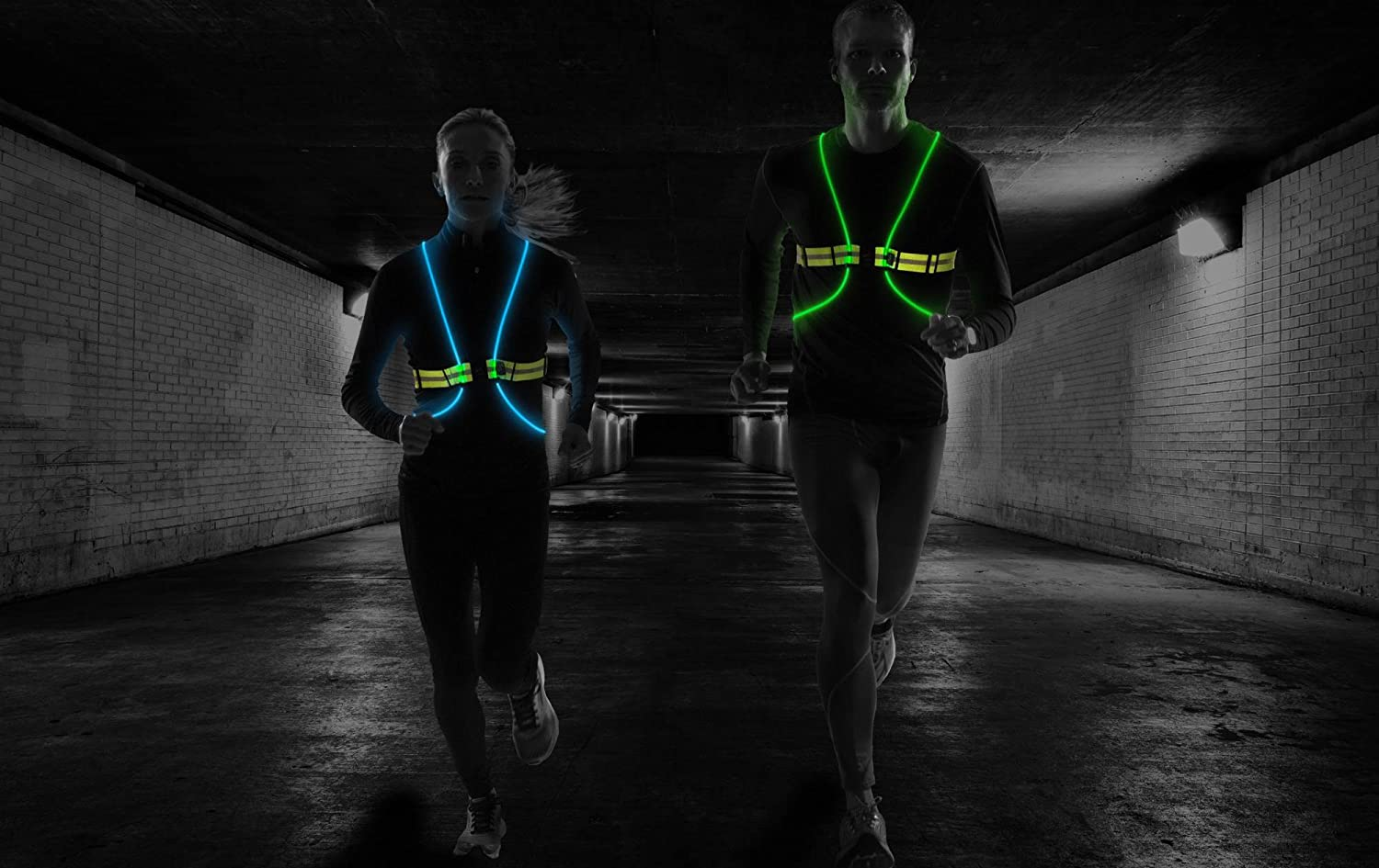 Revolutionary Illuminated /& Reflective Vest for Running or Cycling with Multicolored LED Fiber Optics Tracer360 Women /& Men, Adjustable, Lightweight, Weatherproof Gear for Jogging /& Biking