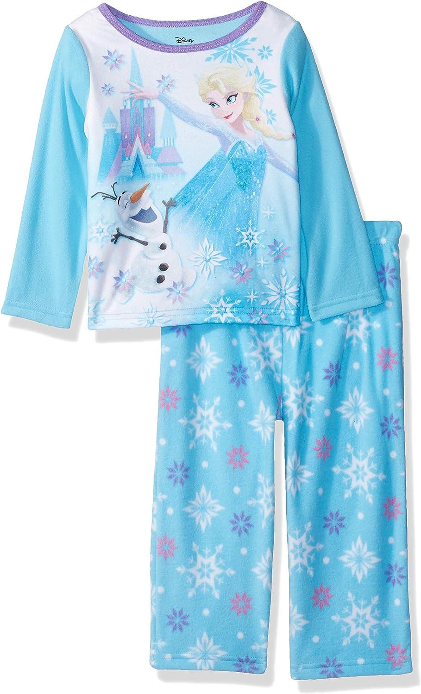 Disney Girls Frozen Elsa 2-Piece Fleece Pajama Set
