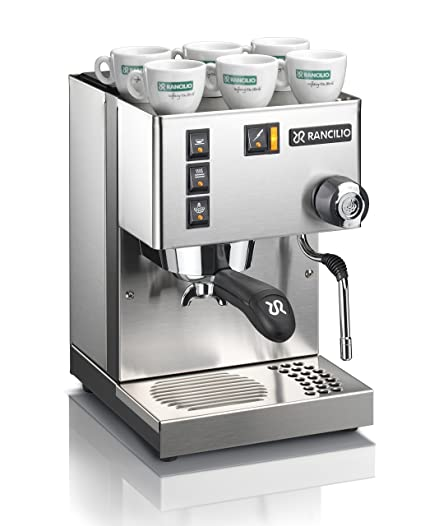 Amazon.com: Rancilio Silvia Espresso Machine with Iron Frame and Stainless Steel Side Panels, 11.4 by 13.4-Inch (Black): Kitchen & Dining