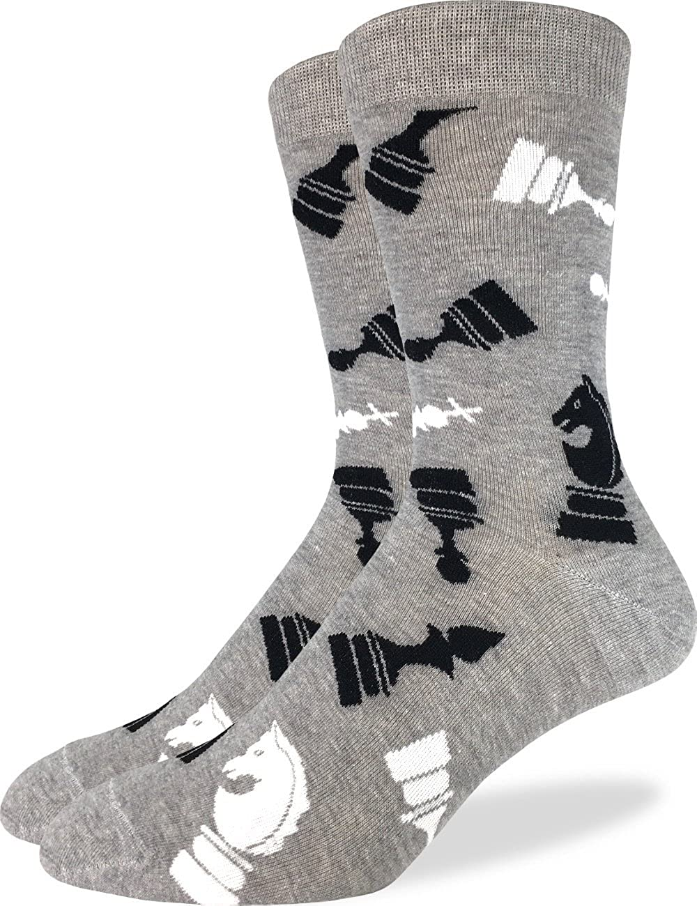 Good Luck Sock Men's Extra Large Chess Socks - Shoe Size 13-17, Big & Tall 2037