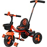 Luusa RX-500 Tricycle with Push Bar (Red)