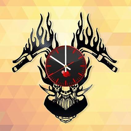 Motorcycle Handlebar Design Vinyl Record Wall Clock - Gift Idea for ...