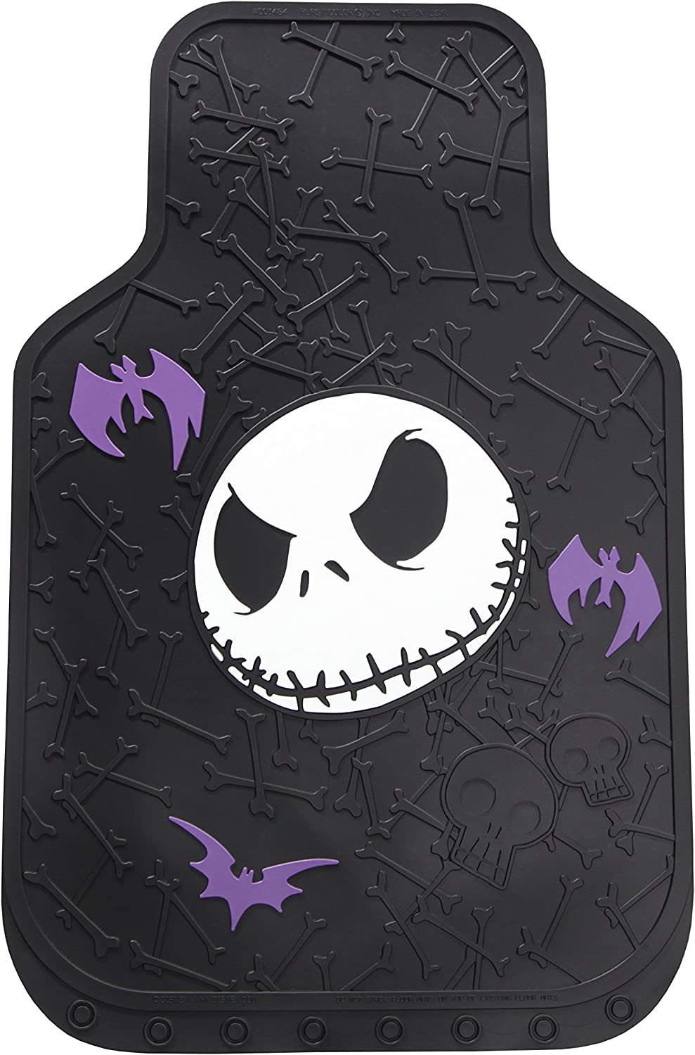 Plasticolor 001484R01 Nightmare Before Christmas NBC Bones Universal Fit Car Truck SUV Front Floor Mats Pair