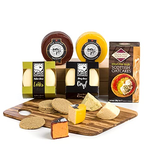 Four Festive Cheese Truckles with Crackers & Cheeseboard - FREE UK Delivery