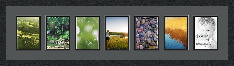 arttoframes Foto Collage Rahmen Doppel Matte mit 7 Öffnungen und ...