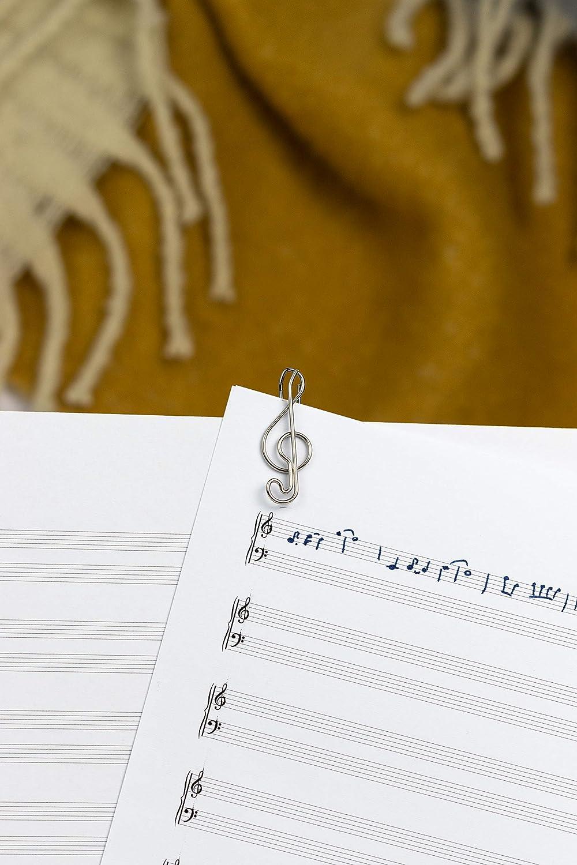 motivo violino come decorazione o segnalibro 11 graffette da ufficio Fermacarte o Bookmark C030 per ufficio o casa Graffette Paperclip I Paper Clips