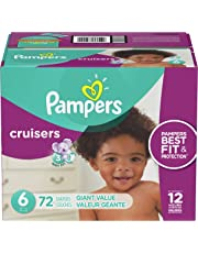 Pampers Diapers Size 6, Cruisers Disposable Baby Diapers, 72 Count, Giant Pack (Packaging May Vary)