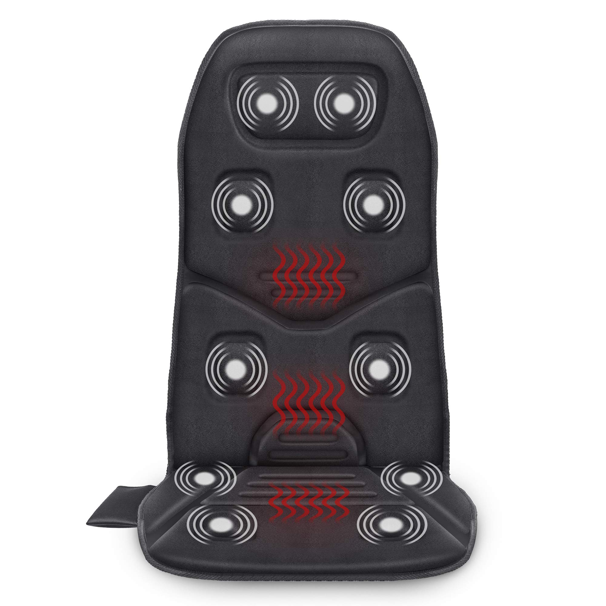 Comfier Massage Seat Cushion with Heat - 10 Vibration Motors, 3 Heating Pad, car Back Massager for Chair, Massage Chair Pad for Back Pain Relief car and Home Office use by COMFIER