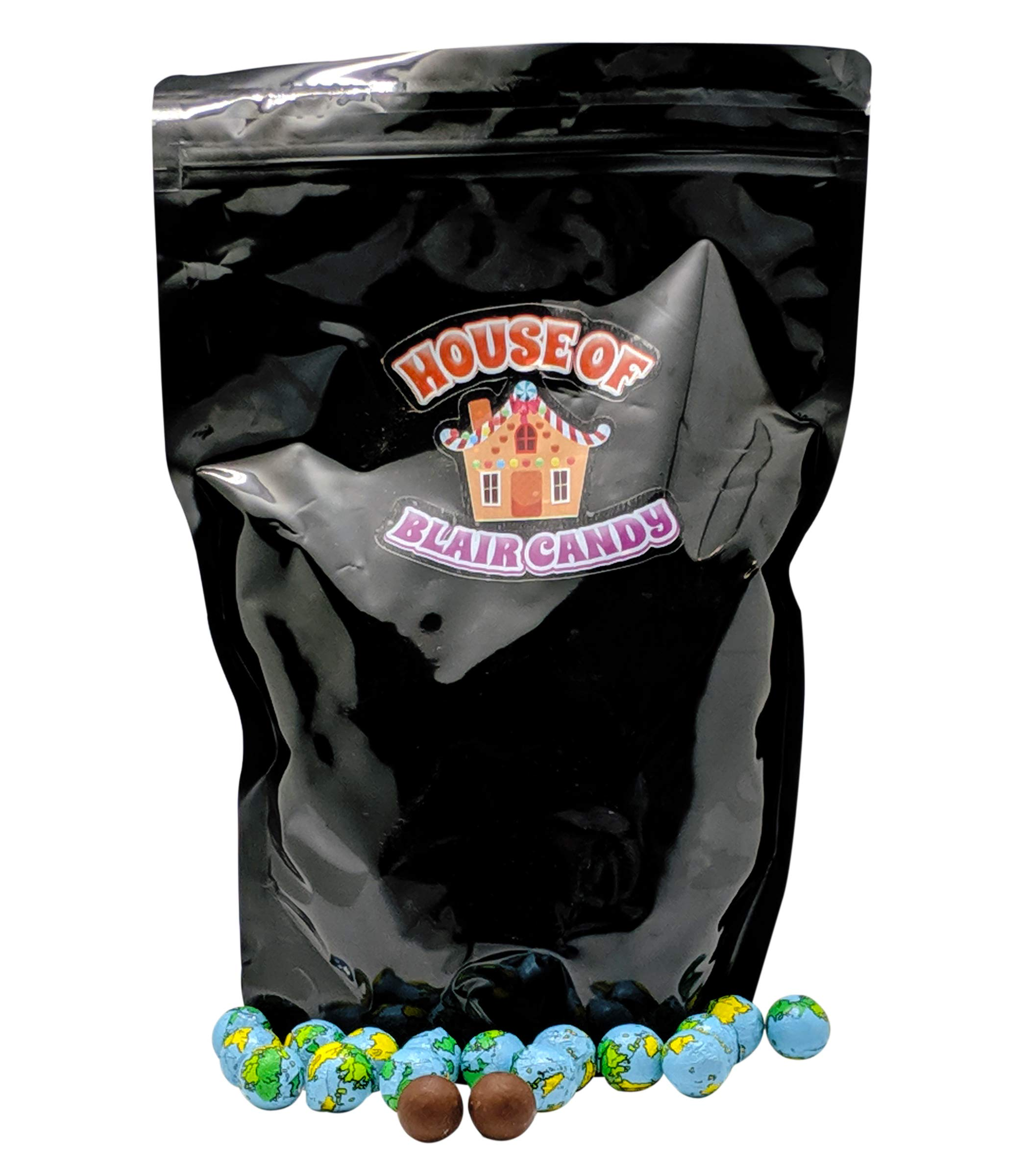Chocolate Earth Balls - 3 LB (approximately 75-80 Pieces Per Pound) - Individually Wrapped - Sealed in Resealable Candy Bag - Decorative Bulk Filler Chocolate Candies by Blair Candy