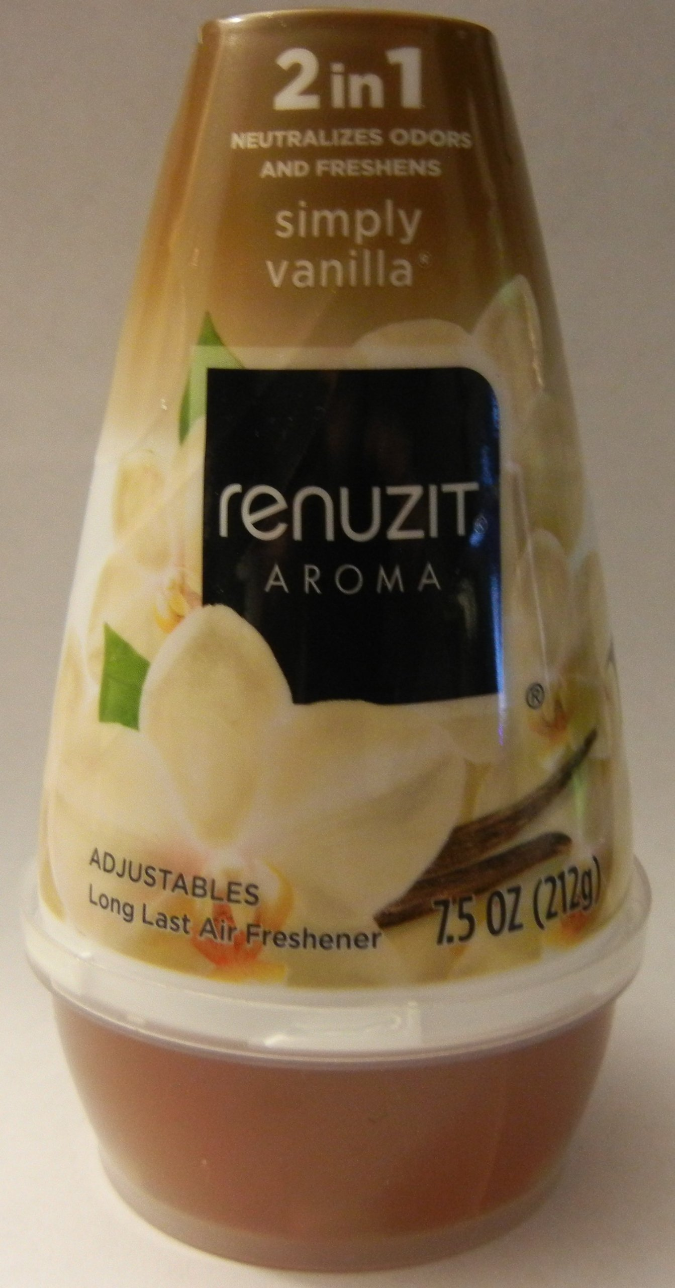 Renuzit Aroma Simply Vanilla 2 in 1 Neutralizes Odors and Freshens 7.5oz Adjustable