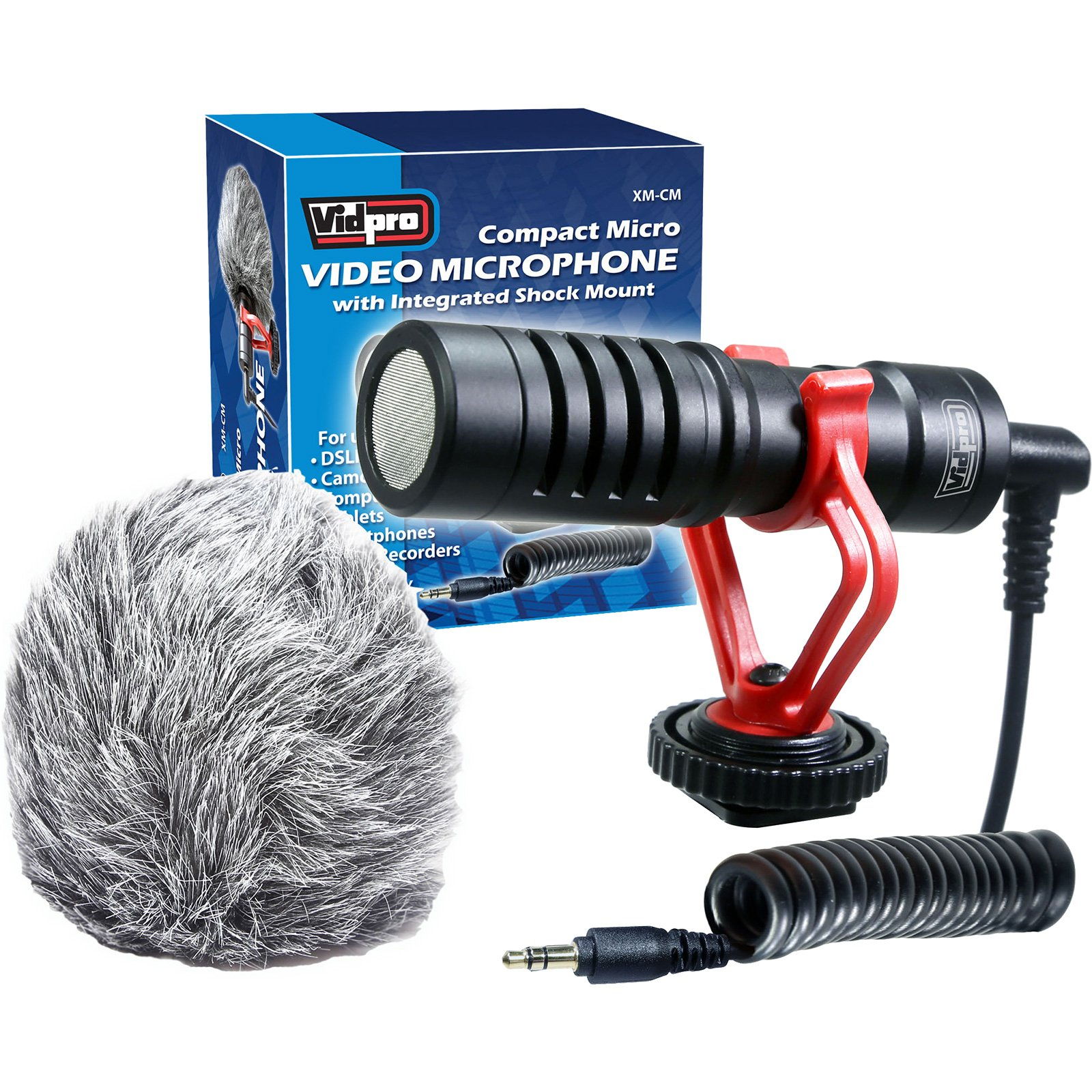 Vidpro XM-CM Compact Micro Video Microphone with Integrated Shock Mount