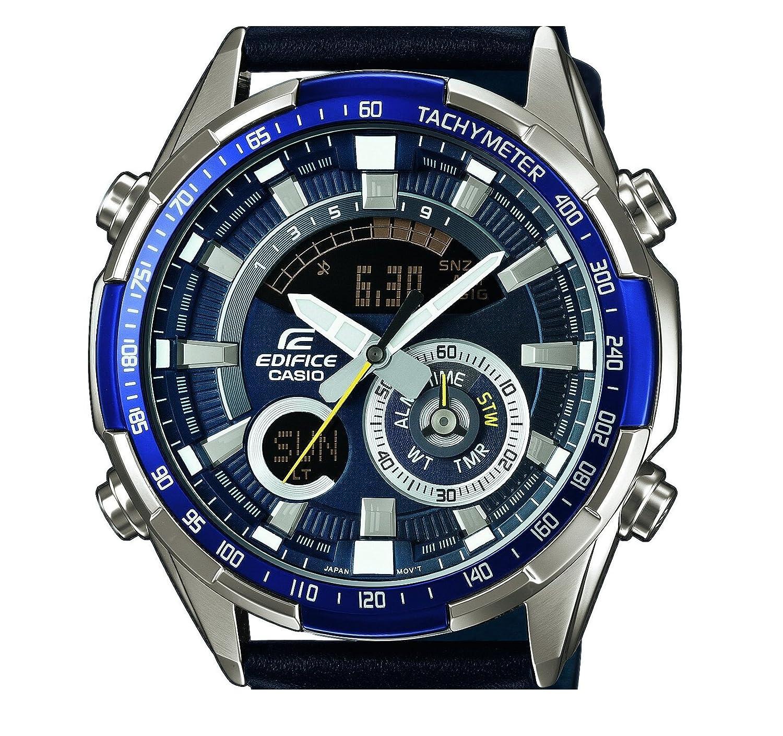 b0ffbac7ec7d Casio Reloj Analógico-Digital para Hombre de Cuarzo con Correa en Cuero ERA-600L-2AVUEF   Amazon.es  Relojes